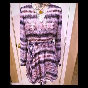 NWT Bebe Sizzling 🔥 metallic & lavender dress M